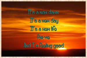 It's a new dawn